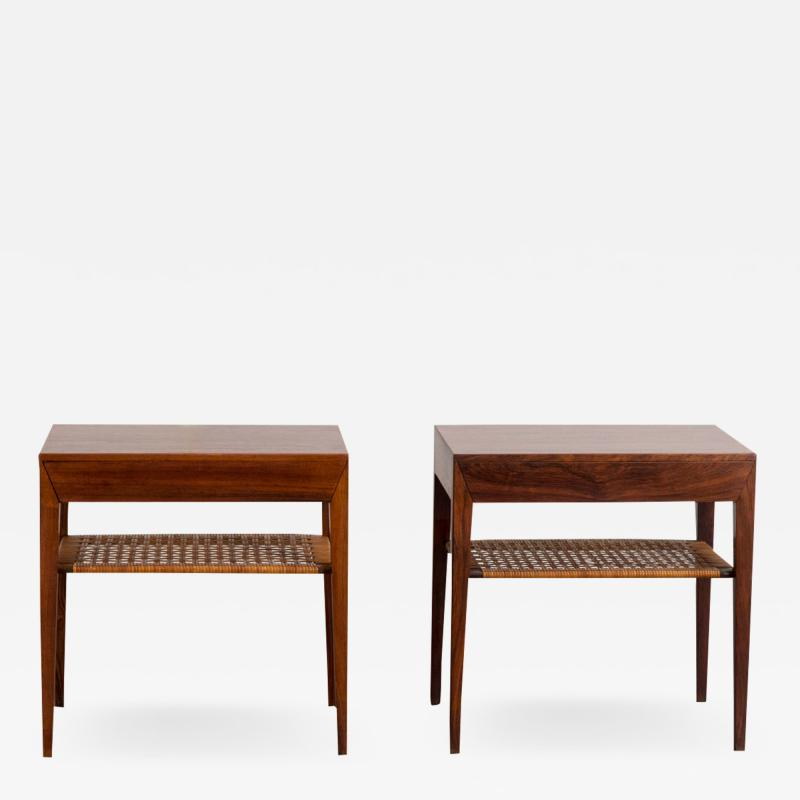 Severin Hansen Pair of Rosewood Tables by Severin Hansen