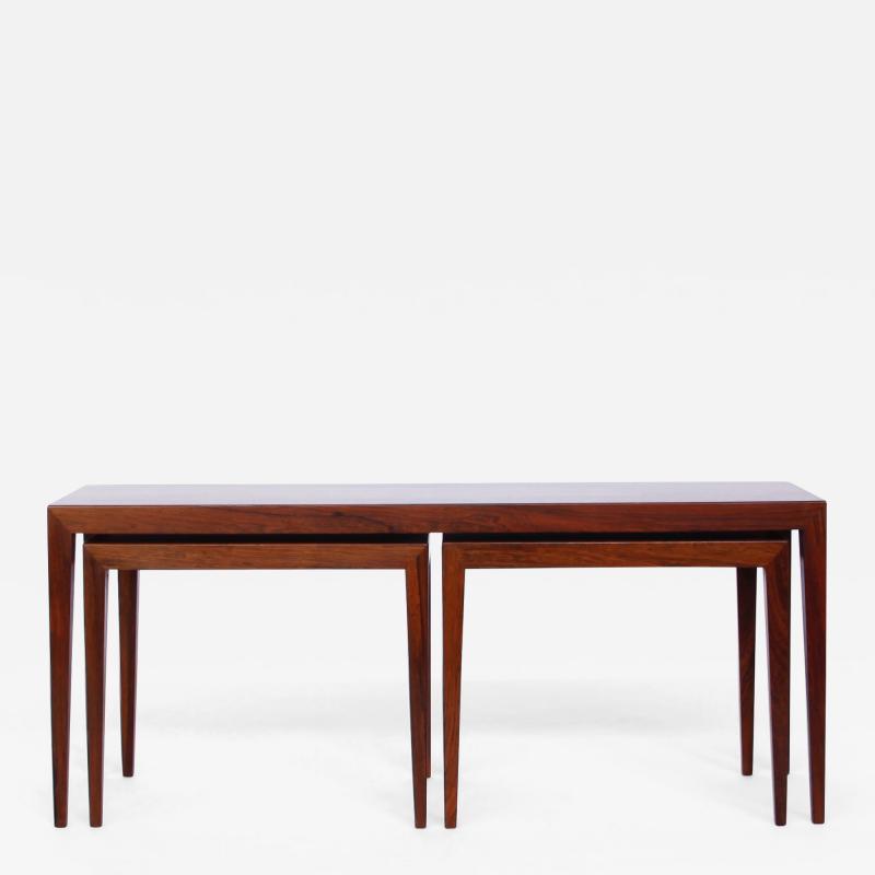 Severin Hansen Severin Hansen Nesting Rosewood Side Tables