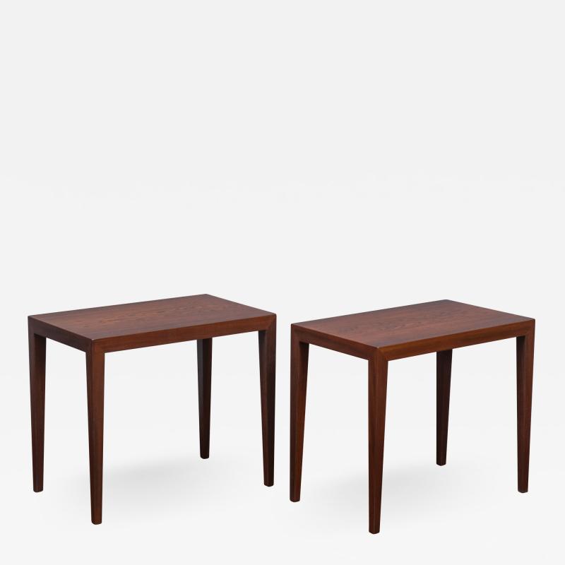 Severin Hansen Severin Hansen Rosewood Side Tables for Haslev