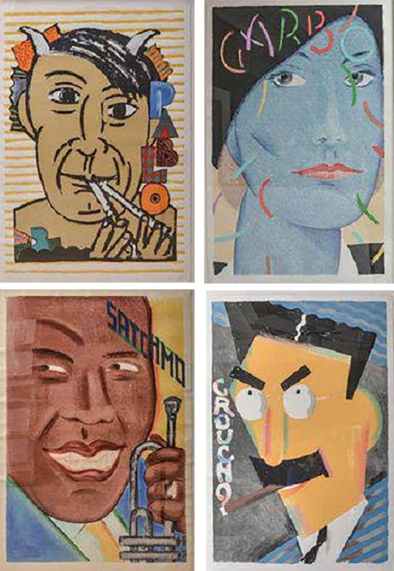 Seymour Chwast O Series By Seymour Chwast in Custom Frames