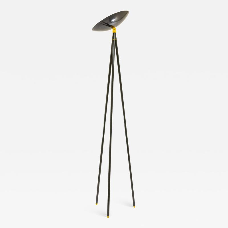 Shigeaki Asahara Black Palomar Floor Lamp by Shigeaki Asahara for Stilnovo 1980s