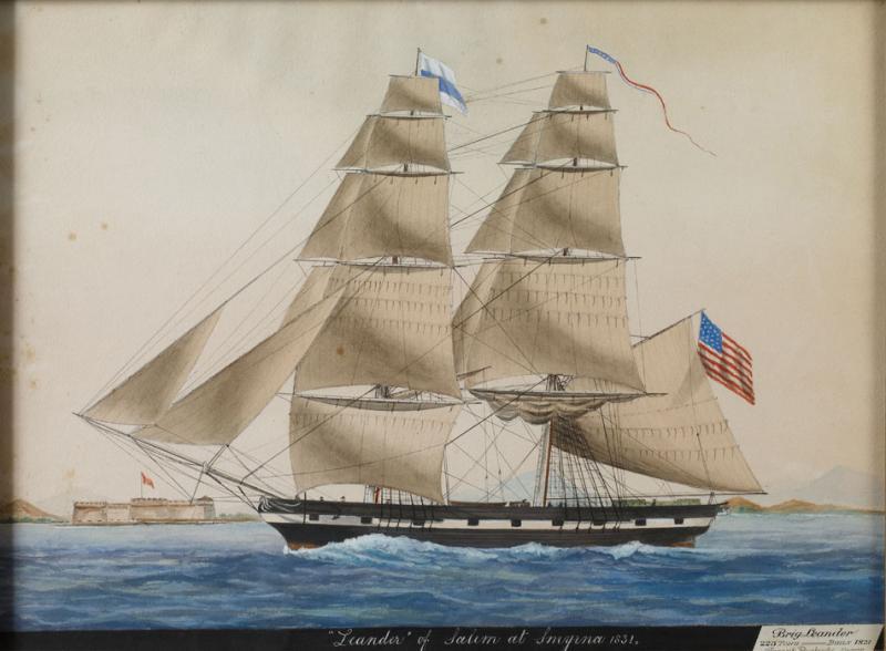 Ship Leander of Salem at Smyrna 1831