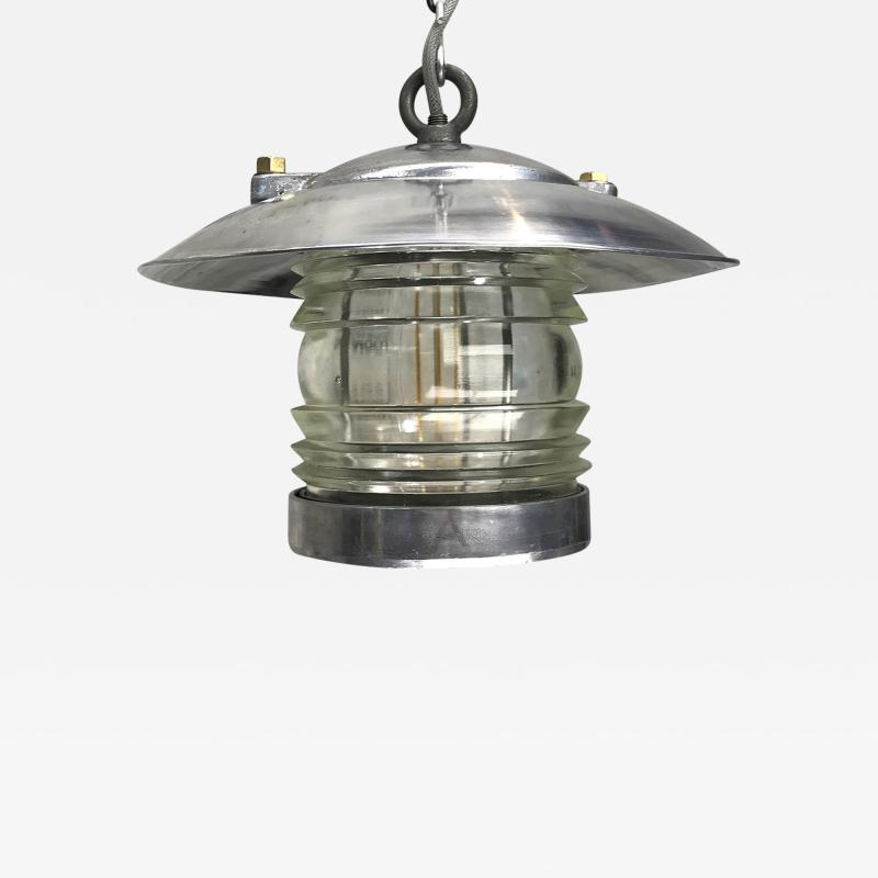 Ships Lantern Ceiling Pendant with Fresnel Glass