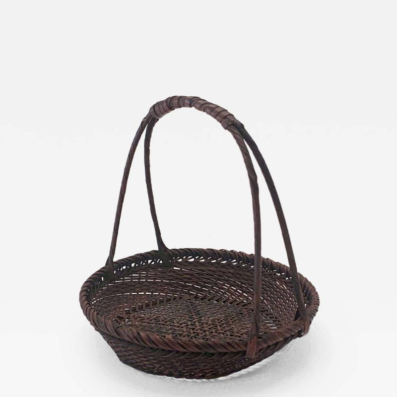 Shokosai I Hayakawa An important miniature Japanese bamboo basket by Hayakawa Shokosai I