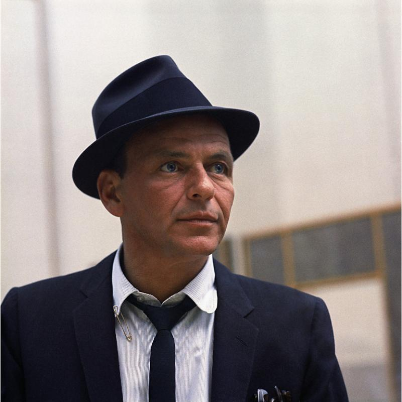 Sid Avery Frank Sinatra at a Capitol Records Recording Session in Los Angeles