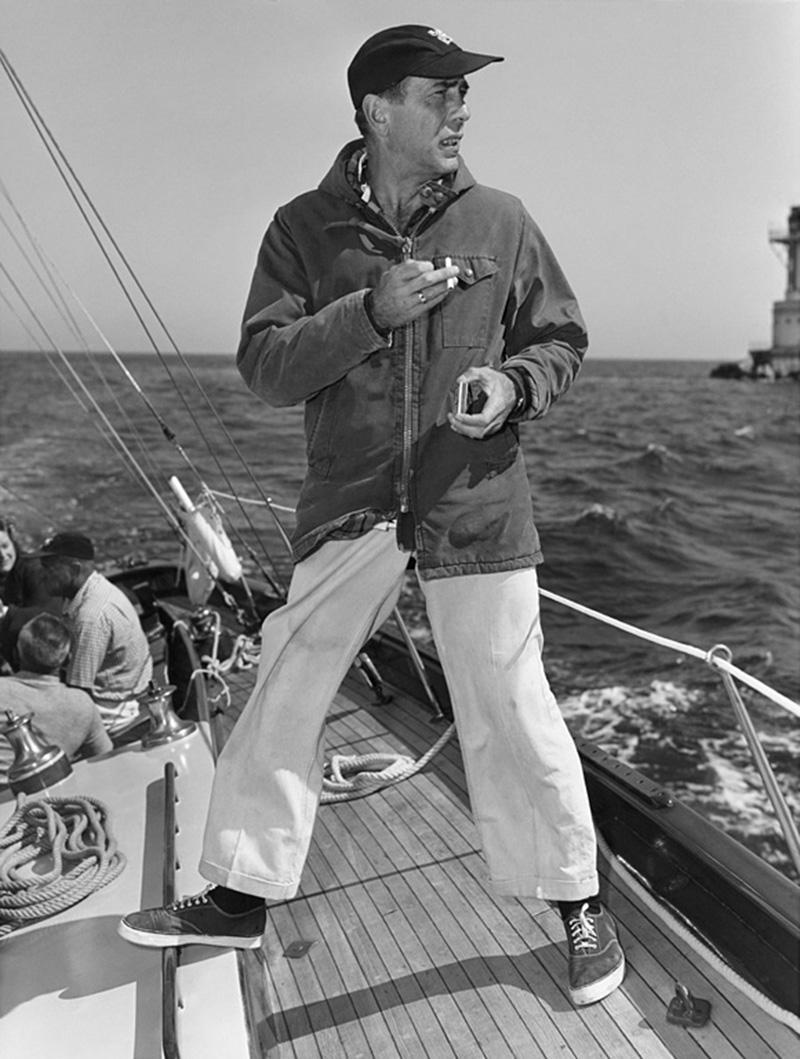 Sid Avery Humphrey Bogart on his Yacht Santana