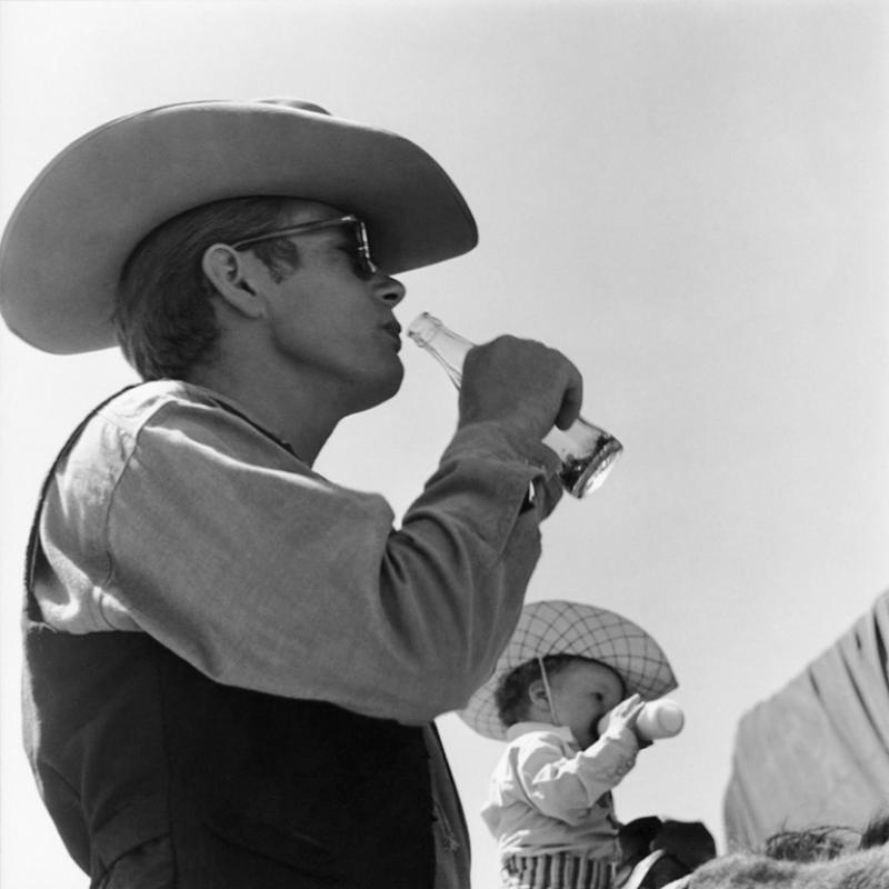 Sid Avery James Dean on Location for Giant in Marfa Texas