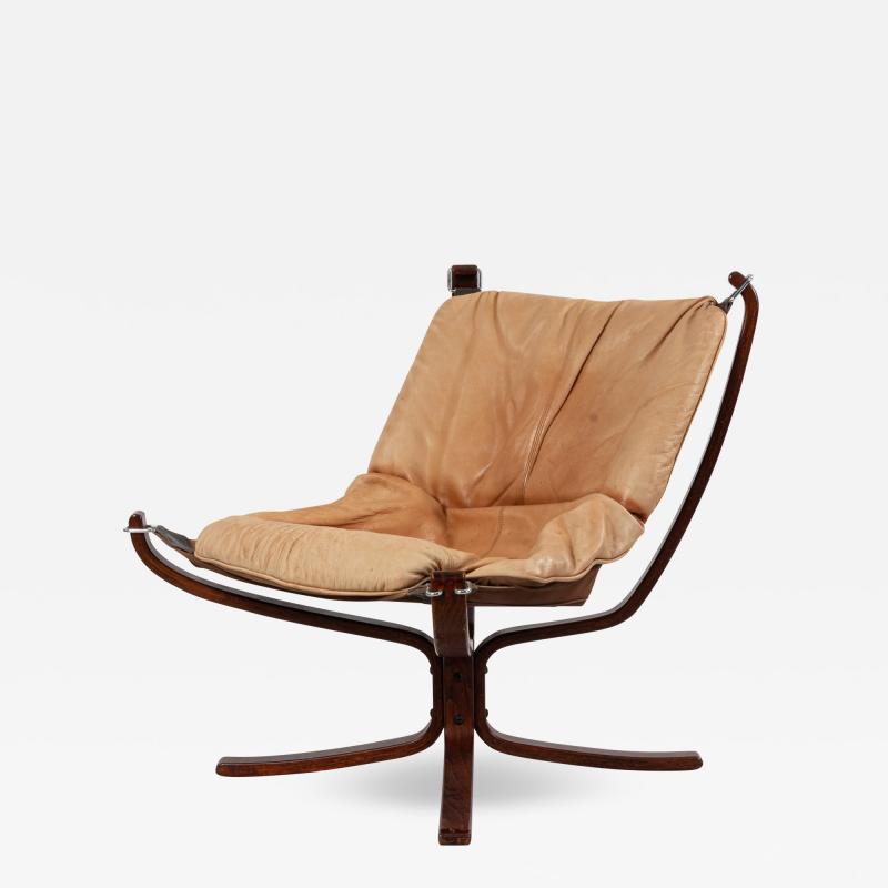 Sigurd Ressell Scandinavian Post War Beige Leather Chairs