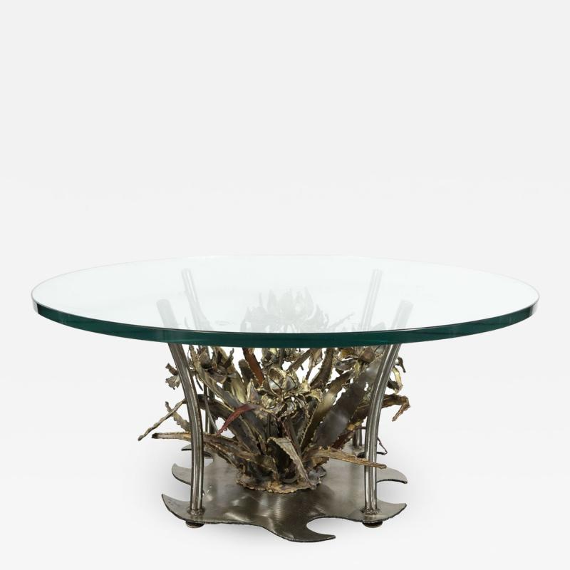 Silas Seandel Midcentury Brutalist Handcrafted Sculptural Cocktail Table by Silas Seandel
