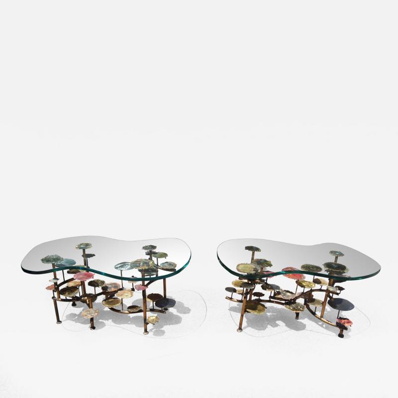 Silas Seandel Pair of Sunspots Coffee Tables by Silas Seandel