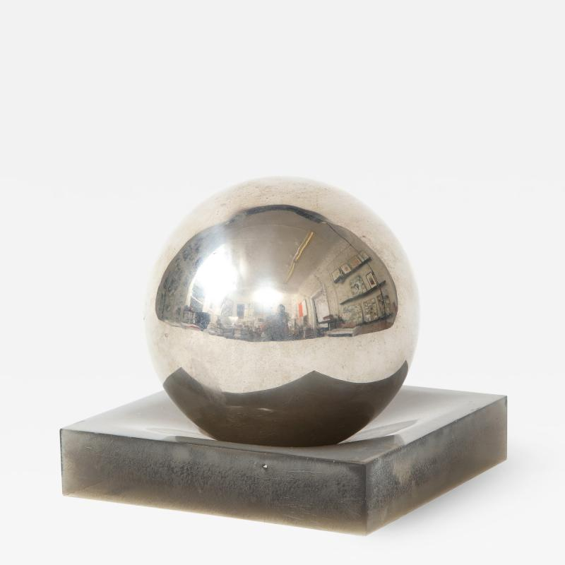 Silver Ball on Lucite Base