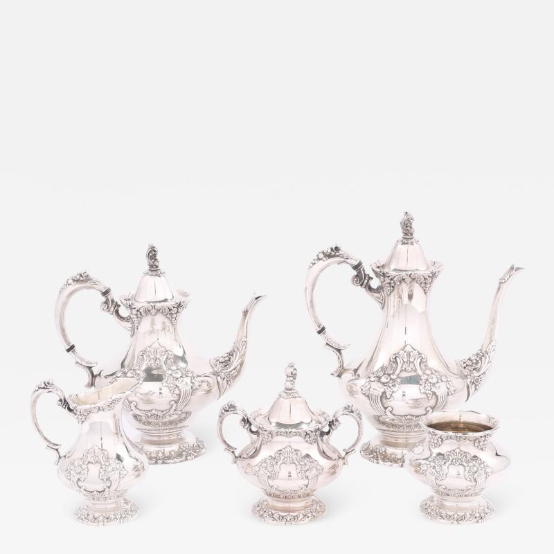 Silver Plate Five Piece Tea Coffee Service