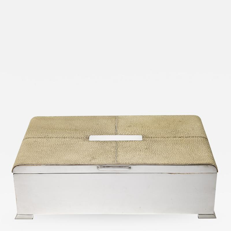 Silvered Bronze and Shagreen Humidor