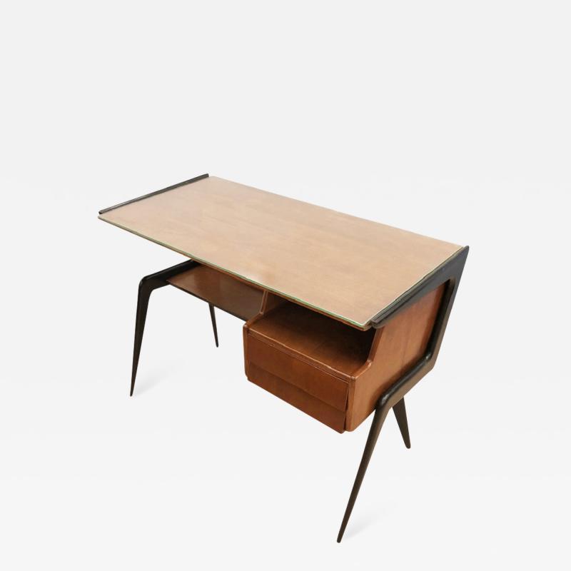 Silvio Cavatorta Italian Mid Century Desk in the Manner of Silvio Cavatorta