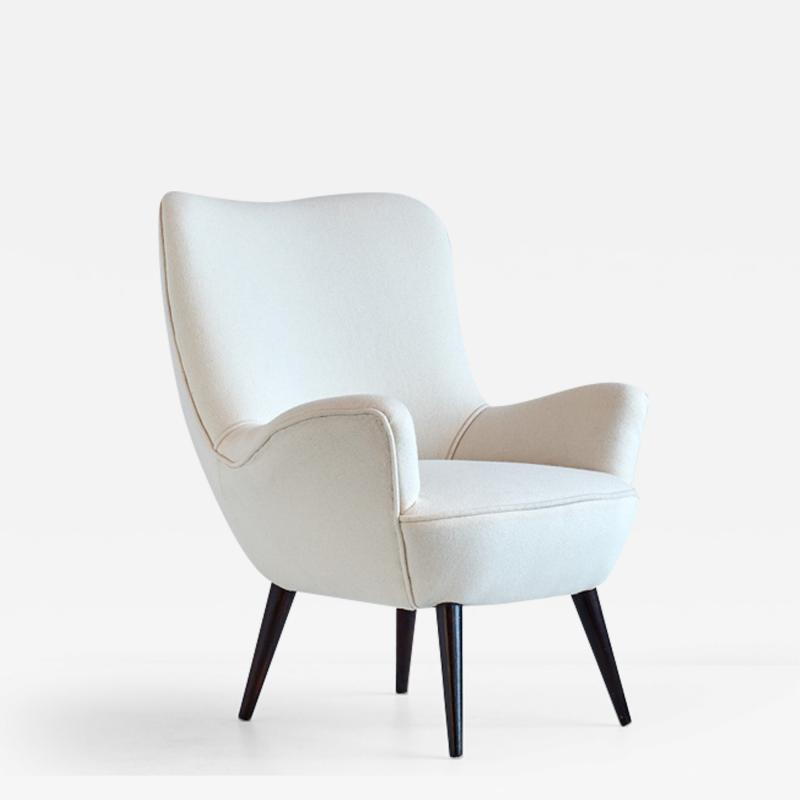 Silvio Cavatorta Silvio Cavatorta Armchair Newly Upholstered in Kvadrat Wool