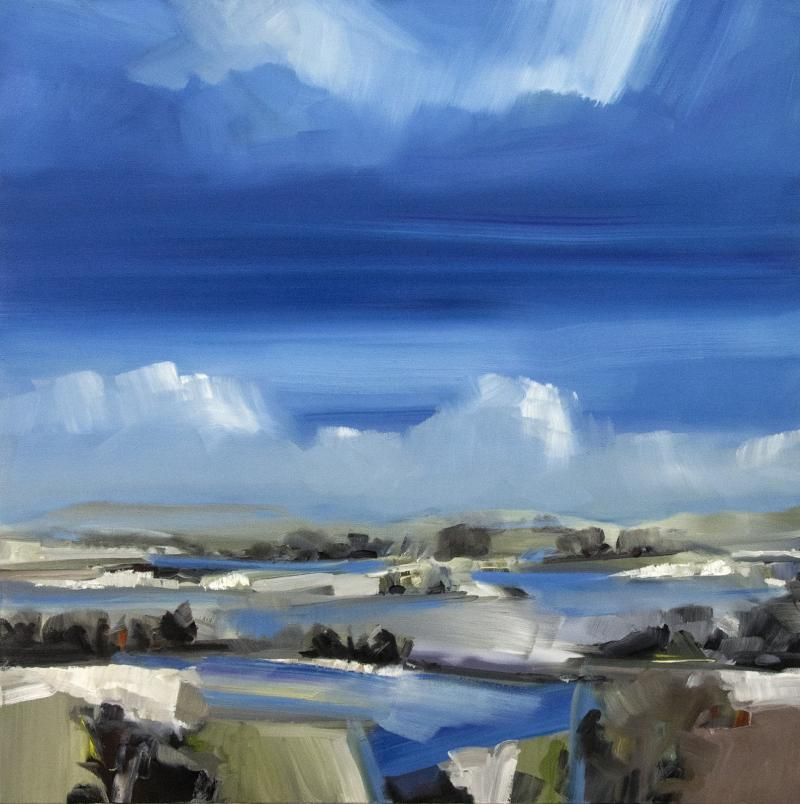 Simon Andrew Spring Melt with Cloud on the Horizon