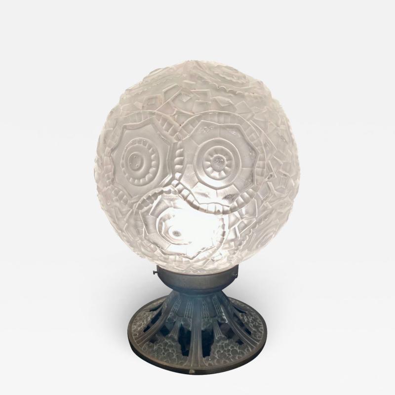 Simonet Freres Simonet Freres French Glass Table Lamp or Ceiling Light