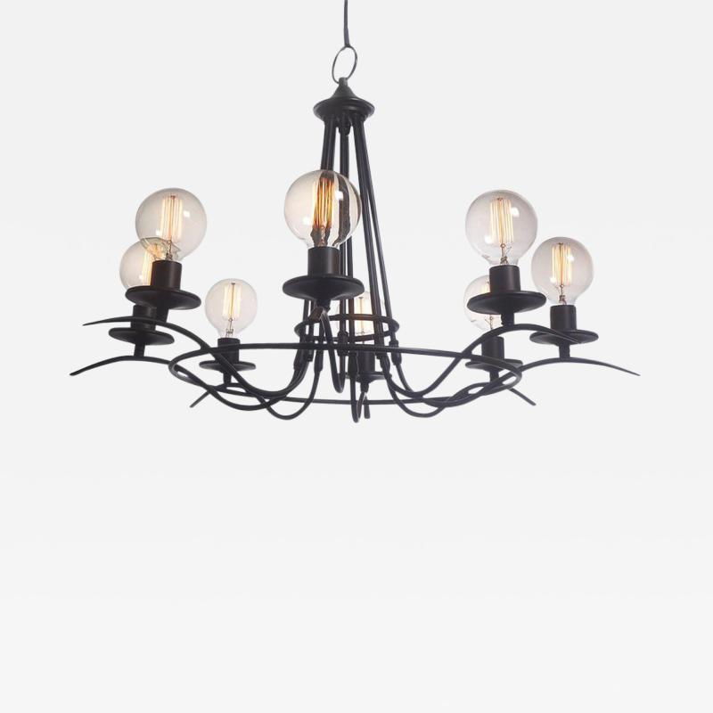 Simple and Elegant Eight Bulb Chandelier