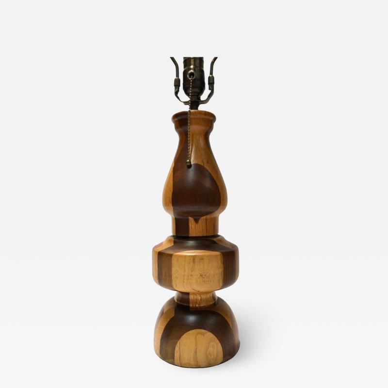 Single Italian Marquetry Table Lamp
