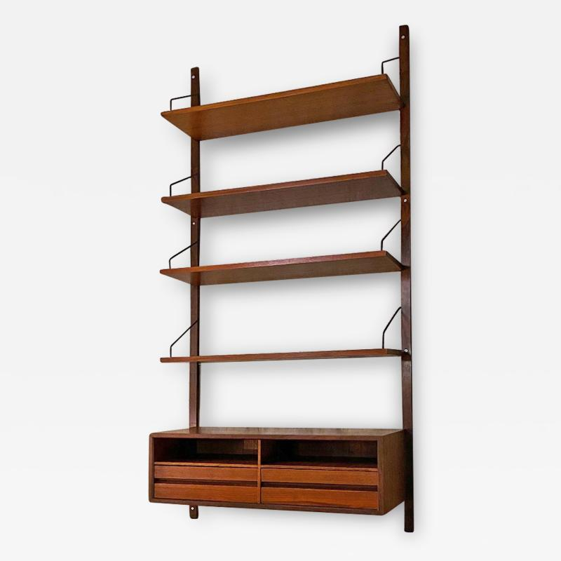 Single teak wall bookcase 1960s