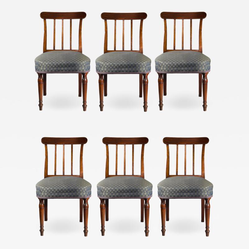 Sir John Soane Set of Six George III Regency Dining Chairs