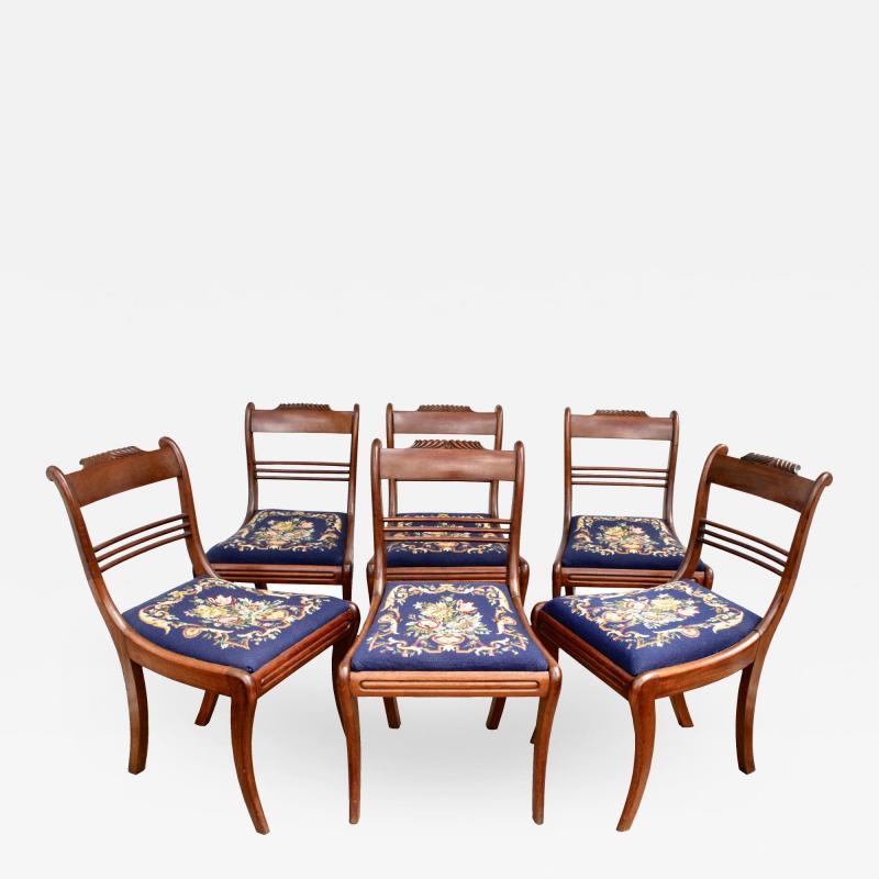 Six Philadelphia Klismos Dining Chairs
