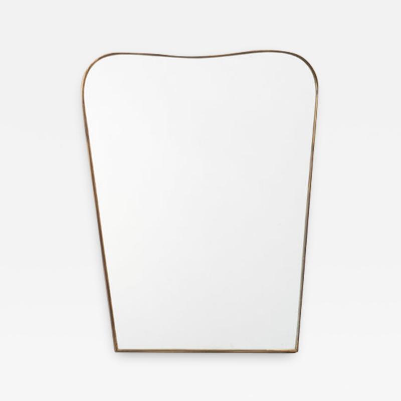 Small Italian brass mirror a Italy 1950s