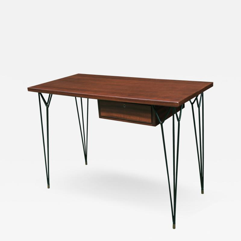 Small Mid Century Italian Writing Desk With Matching Chair