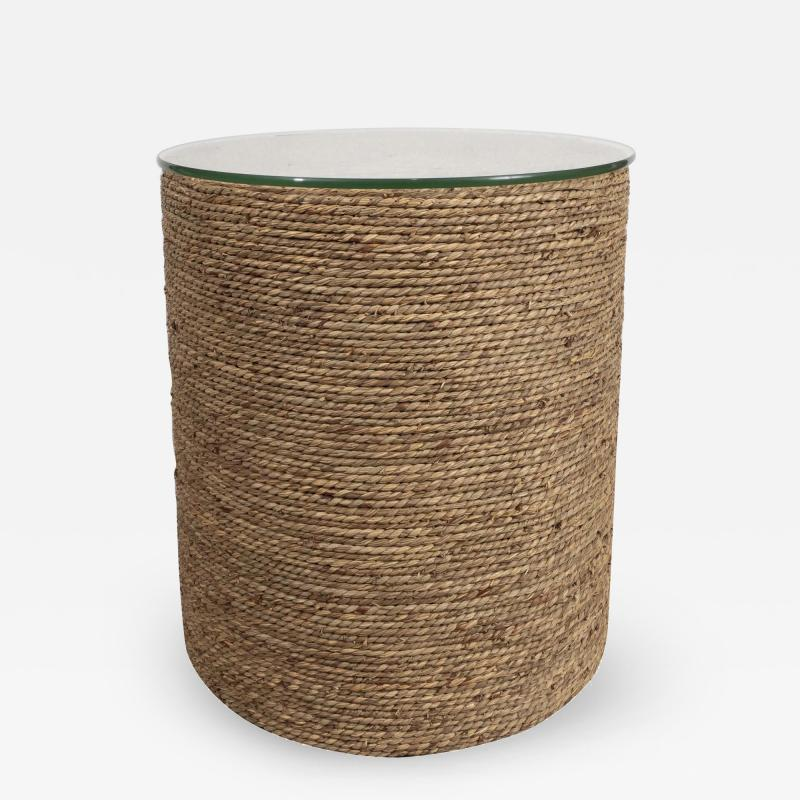 Small Rattan Wrapped Side Table