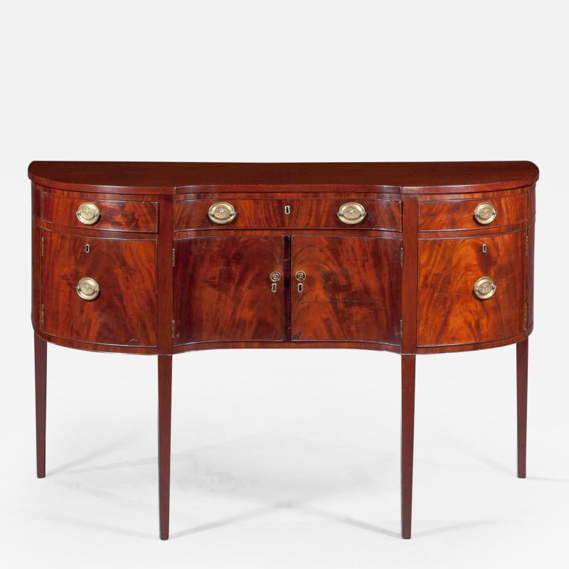 Small Shaped Front Federal Sideboard Mid Atlantic probably Maryland c 1790