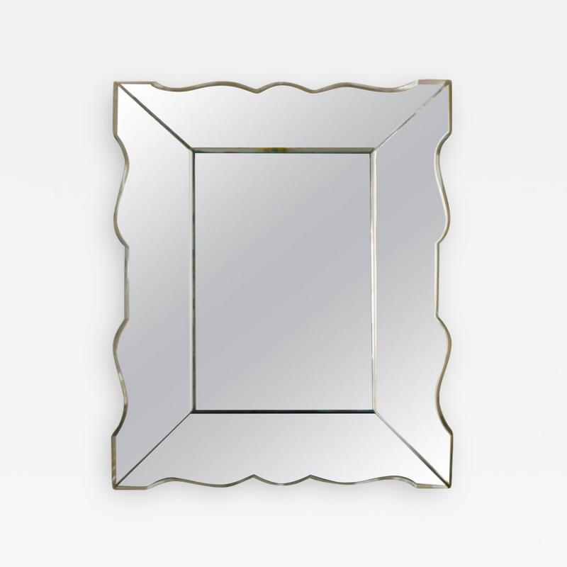 Small french art deco mirror 1940s