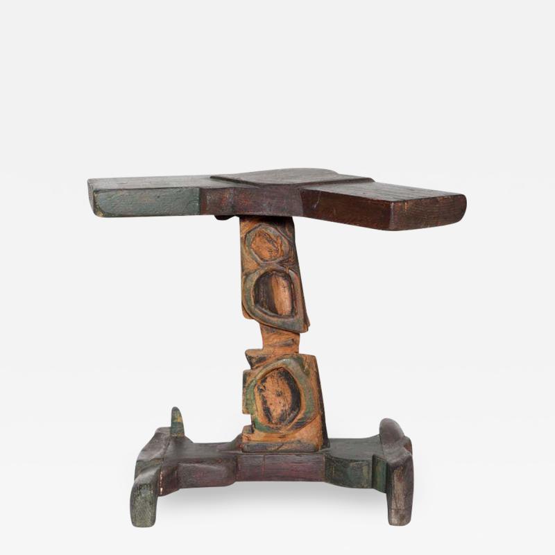 Smokey Tunis Smokey Tunis Handcrafted Tiki Pine Table 1950s