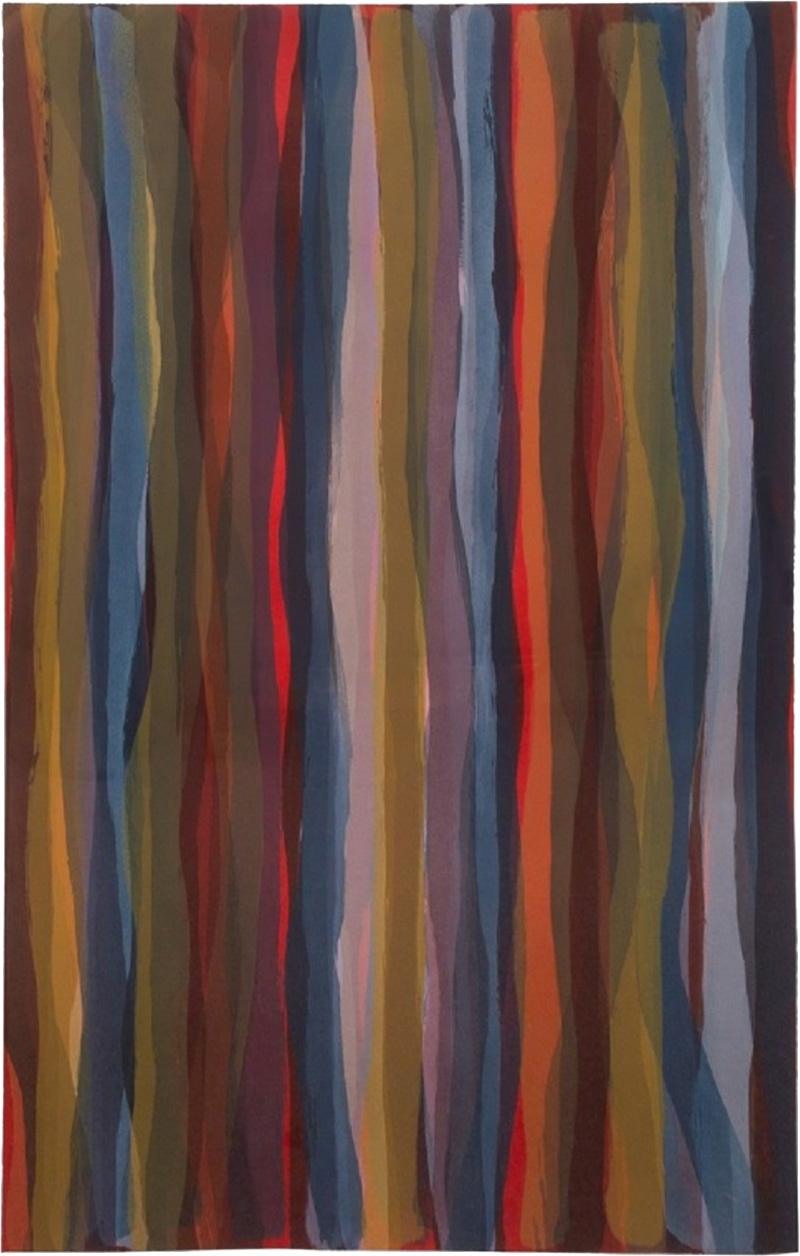 Sol LeWitt Brushstrokes in Different Colors in Two Directions Plate 04