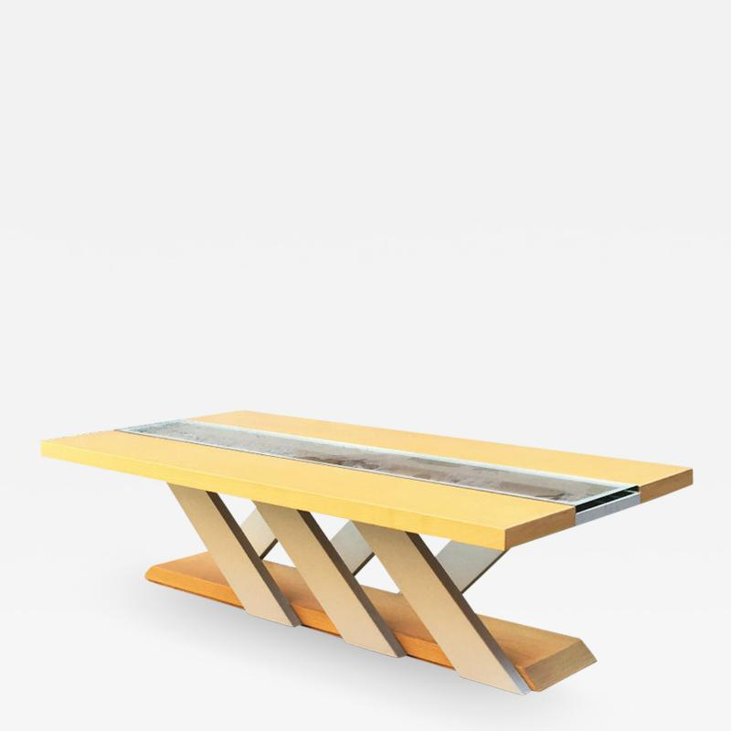 Solid wood coffee table 1980s