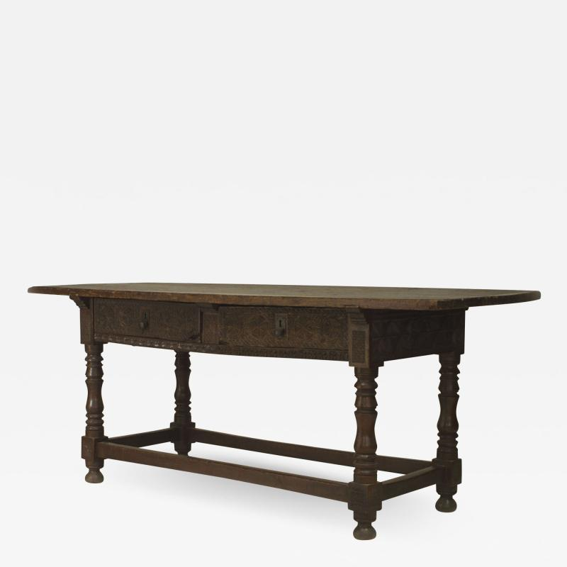 Spanish Renaissance Oak Refectory Table