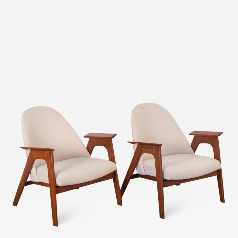 Spectacular American Walnut Armchairs