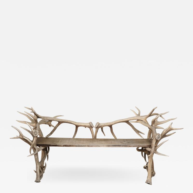 Spectacular Antler Chair Bench