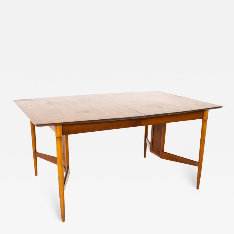 Statesville Chair Company Mid Century Walnut Surfboard Dining Table