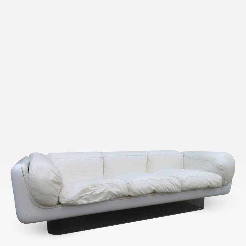 Steelcase Co Fabulous Steelcase Fiberglass Leather Space Age Modern Sofa William Andrus