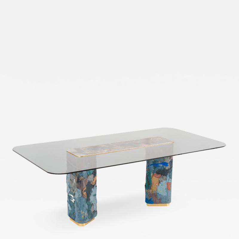 Stefan Rurak Stefan Rurak Concrete and Steel Dining Table No 4 USA