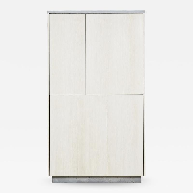 Stefan Rurak Studio Minimal 4 Door Janice Armoire Concrete White Oak and Mint Green Interior