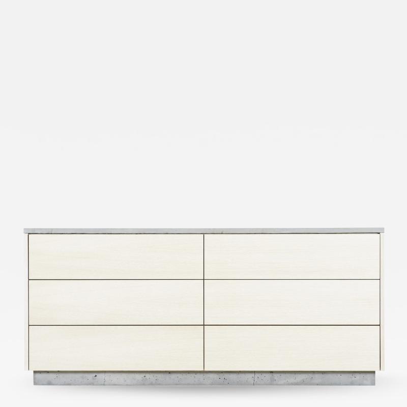 Stefan Rurak Studio Minimal 6 Drawer Janice Dresser Concrete White Oak and Mint Green Interior