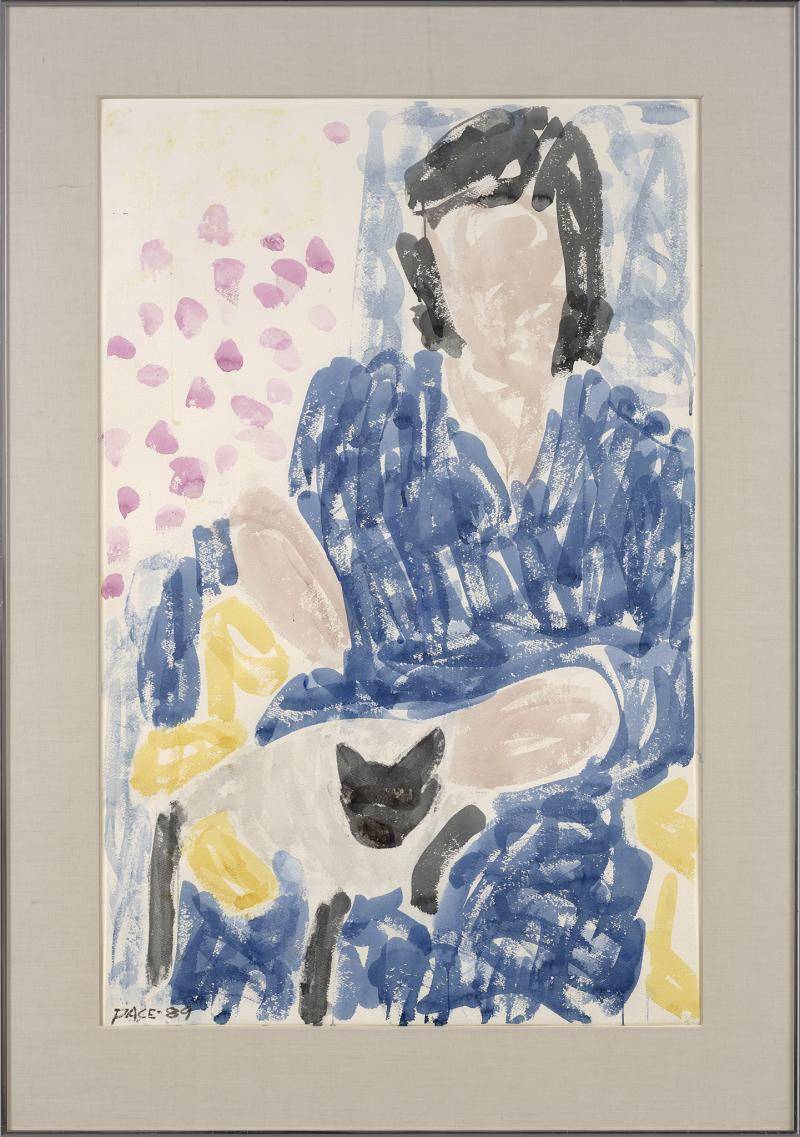 Stephen S Pace Pam in Blue Robe Cat
