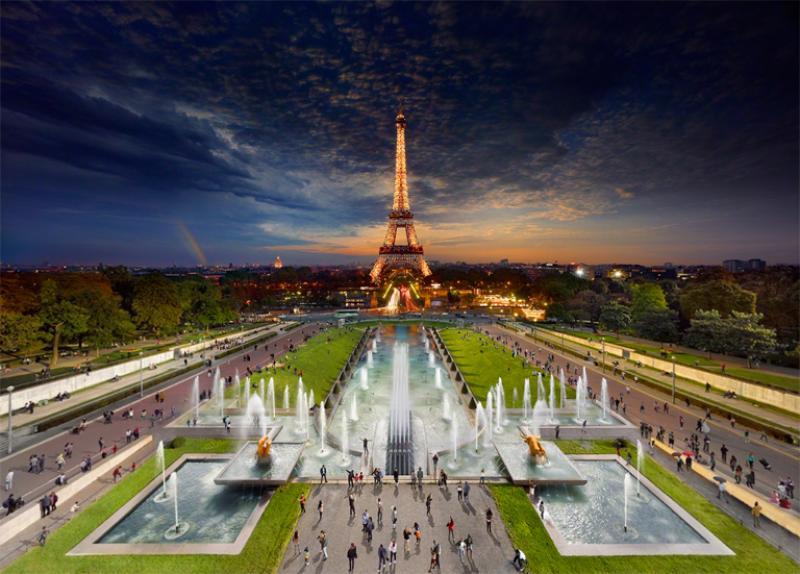 Stephen Wilkes Eiffel Tower Paris 2013