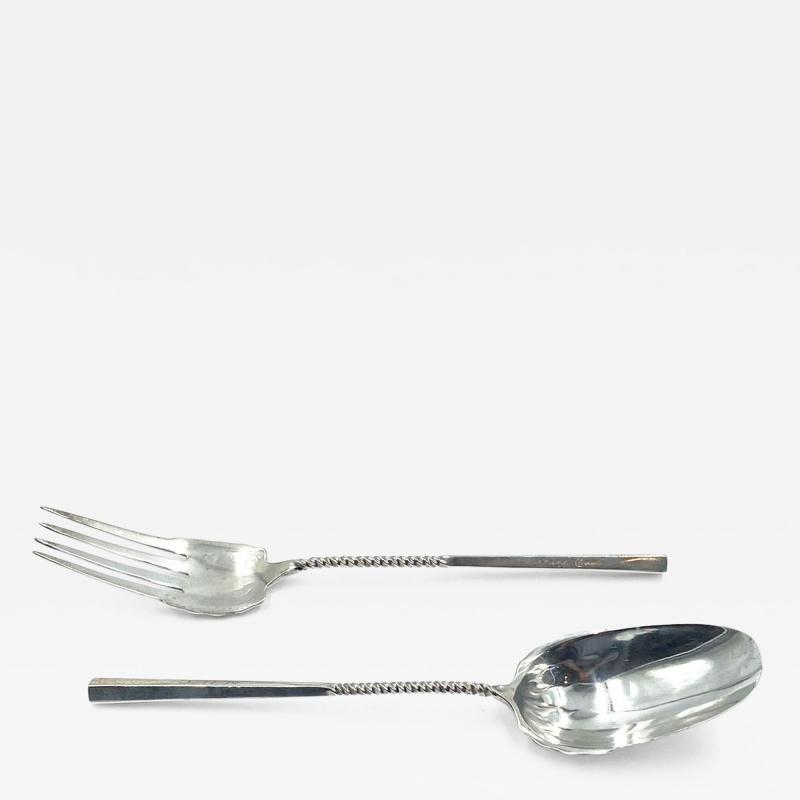 Sterling Silver Salad Set American