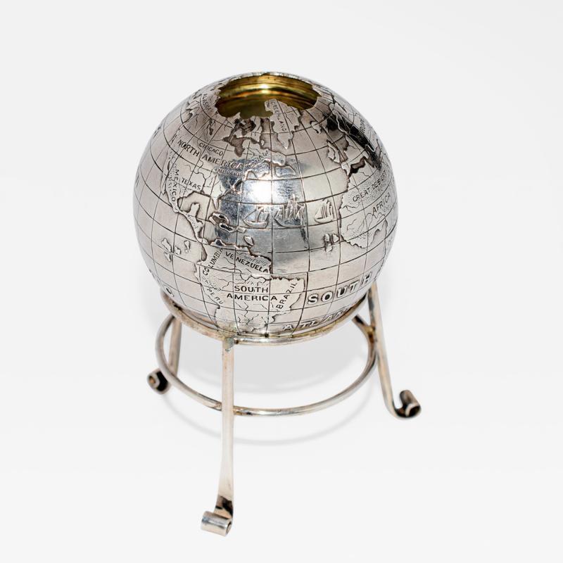 Sterling Silver World Globe Compass