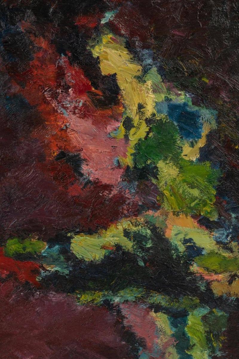 Stevan Kissel Framed Modern Abstract Oil Painting by Stevan Kissel