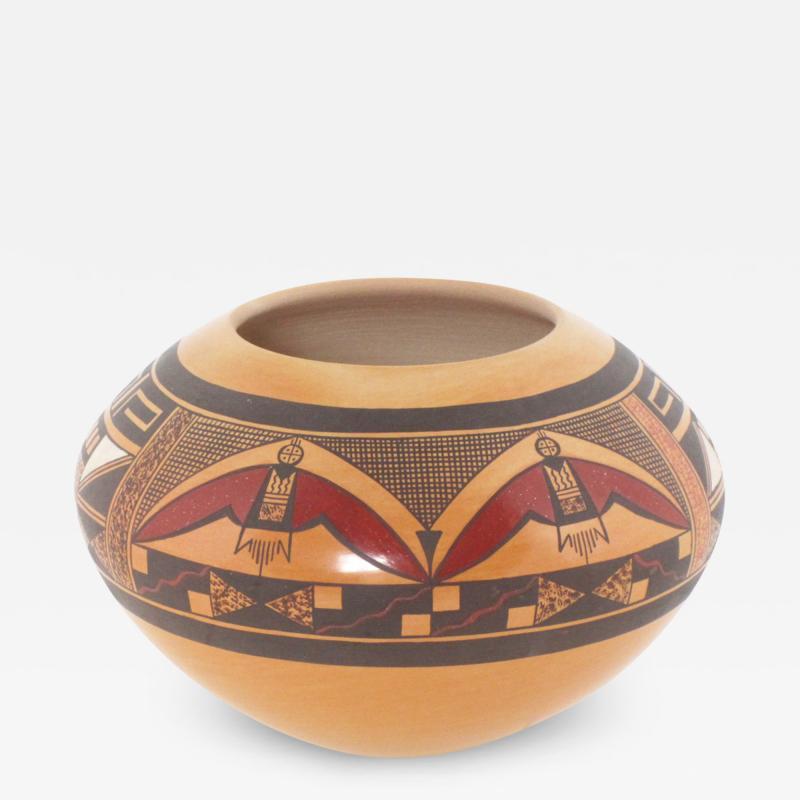 Steve Lucas Hopi polychrome seed jar by Steve Lucas