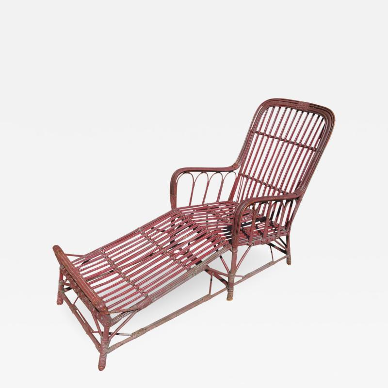 Stick Wicker Chaise Lounge