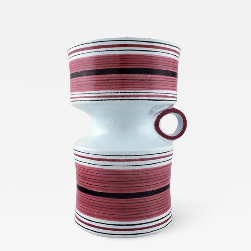 Stig Lindberg Stig Lindberg Gustavsberg Faience jug vase with hand painted decoration